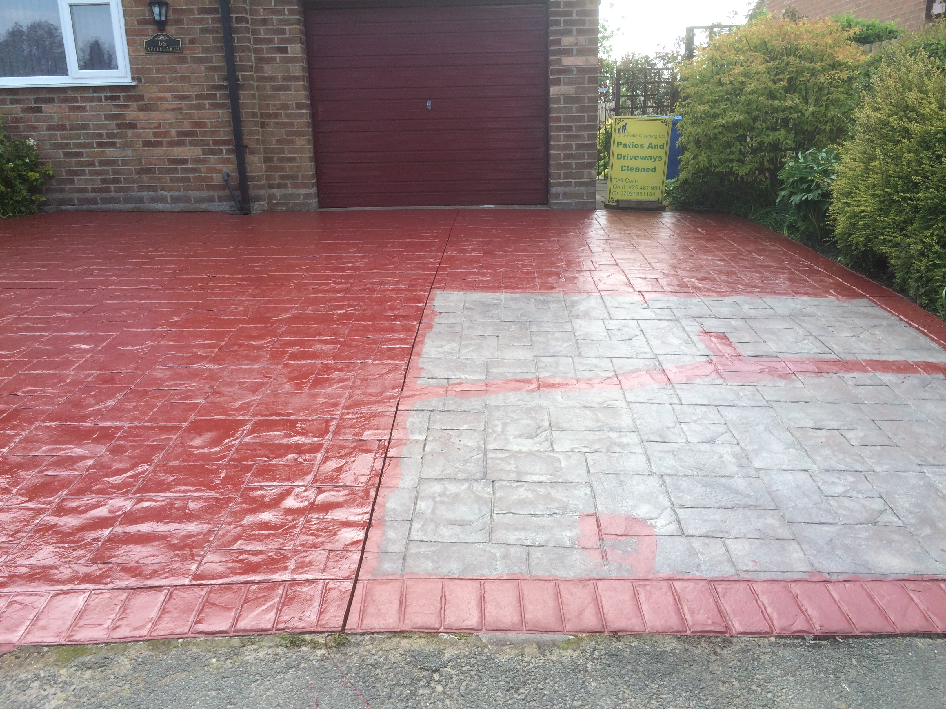 Cg patio and wasp customer testimonials p i c clean and for Pressure wash concrete patio